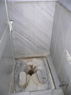 Die Toilette im Hamam, alles Marmor :-)